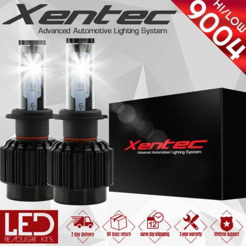 XENTEC LED HID Headlight kit 488W 48800LM 9004 HB1 6000K 1985-1993 Ford Mustang