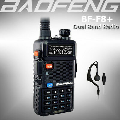 BAOFENG BF-F8+ Dual Band 136-174/400-520Mhz VHF/UHF Two Way Radio Walkie Talkie