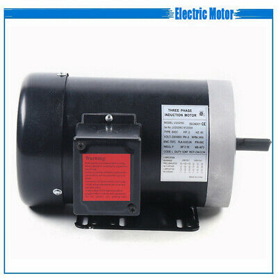 2 Hp 3450 Rpm Electric Motor Compressor Duty 56c Frame 3 Phase 58 Shaft 230 V