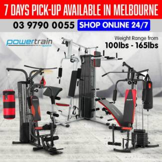 POWERTRAIN MULTI-STATION HOME GYM PICK UP AVAILABLE IN MELBOURNE
