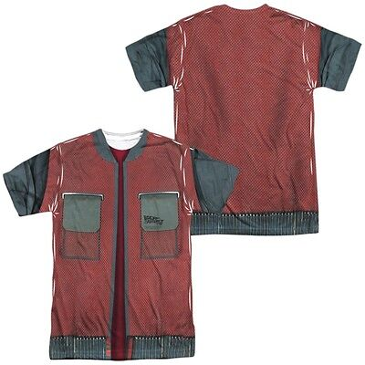 Back to the Future Marty McFly Jacket Costume Outfit Uniform Allover T-shirt top](Marty Mcfly Outfit)