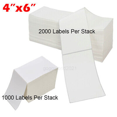 40005000 4x6 Fanfold Direct Thermal Shipping Labels For Zebra Rollo Printers