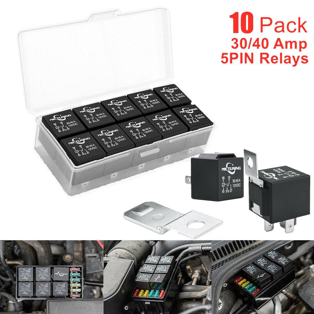 10pack 12v 40  30amp 5pin Spdt Bosch Automotive Relays For