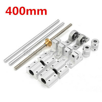 Optical Axis 8mm 400mm Linear Rail Shaft Rod With Bearing Block Guide