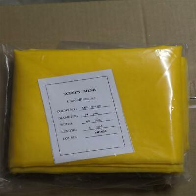 3 Yards - 230 Yellow Mesh Count 65 Width Silk Screen Printing Mesh Fabric