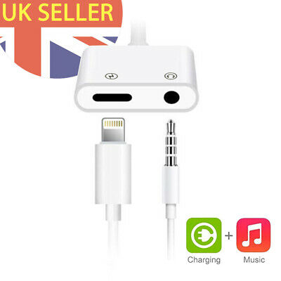 2 in 1 Lightning to 3.5mm Headphone Adapter Compatible with iPhone X 7 8 SE