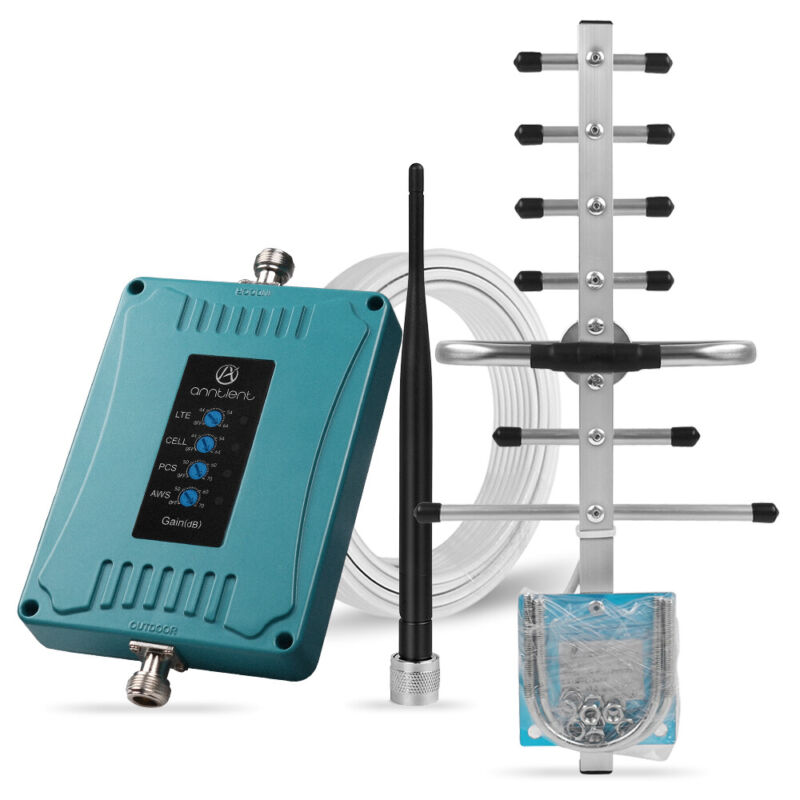 4G Cell Phone Signal Booster 700A/700V/850/1700/1900MHz 5 Band LTE Repeater Home