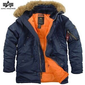 Alpha-Genuine-N-3B-Slim-Fit-Parka-Replica-Blue-Orange-Metal-zipper