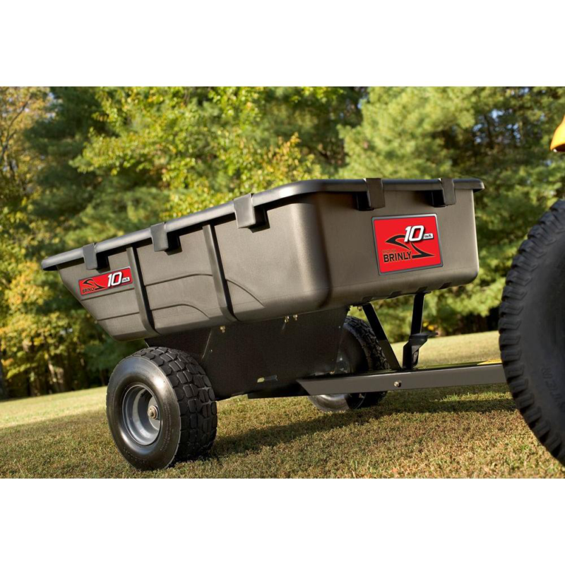 Brinly Hardy Tow Behind Poly Utility Cart Outdoor Garden Rid