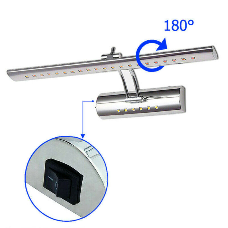 7W LED Spiegelleuchte Badlampe Spiegellampe Mit Schalter Wandleuchte Kaltweiß