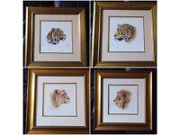 4 Wild Cat Prints
