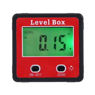 Magnetic Digital Inclinometer Level Box Gauge Angle Meter Finder Protractor 360