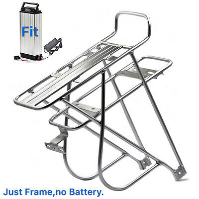 Electric Bike Battery Rear Rack Holder for E-Bike Kit Frame Carrier