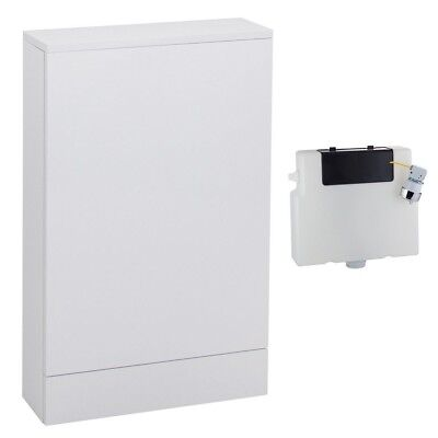 Slimline 500mm x 155mm Gloss White WC Back To Wall Unit 6L Concealed Cistern