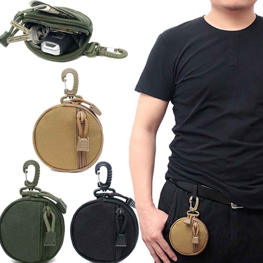 Tactical Molle Waist Pouch  Military Key Coin Purse Outdoor EDC Belt Pack Bag US Holsters, Belts & Pouches