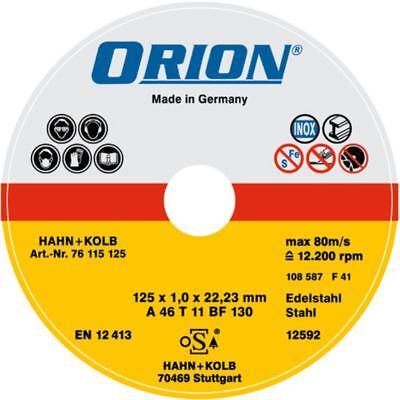 ORION Disco de Corte para Acero Inoxidable 115x1, 5x22 MM Inox-Sch