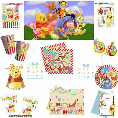 Y SUPPLIES BABY PARTY TIGGER EEYORE PIGLET PARTY! FREEPOST (Pooh Party Supplies)