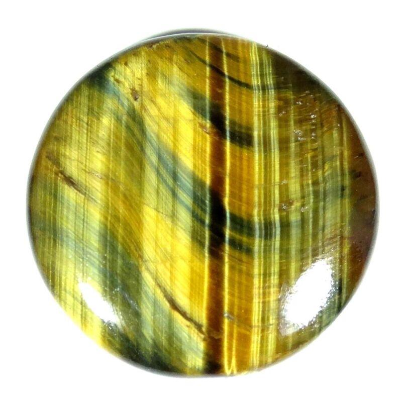 43.65Cts. 32X32X5mm. Natural Designer Golden Tiger
