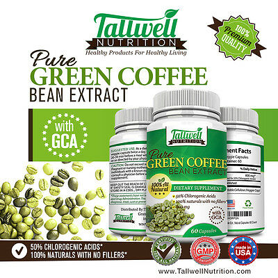 Green Coffee Bean Extract W Gca   Weight Loss Fat Burner Diet Pills On Sale Now