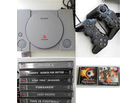 PS1 (Sony PlayStation 1) With Games and Accessories