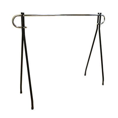 48h Black Clothing Rack Garment Display Single Chrome Bar Retail Fixture