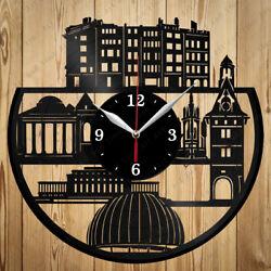 Vinyl Clock Geneva Skyline Vinyl Record Clock Handmade Original Gift 7087