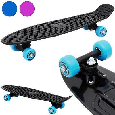 """Skateboard 22-Inch Retro Board PU Wheel Complete Plastic Deck Mini Cruiser 22"""""""