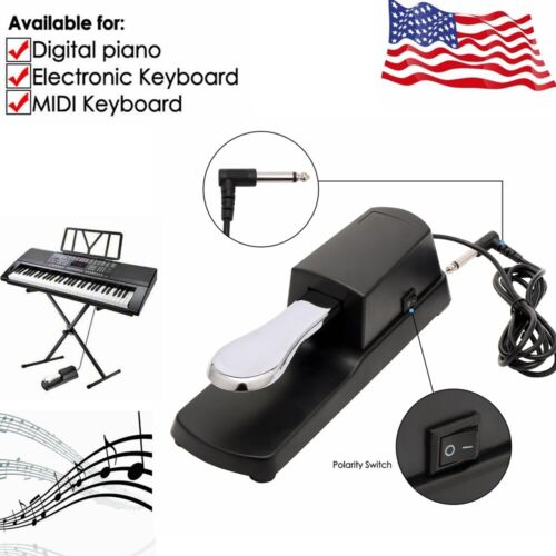 Piano Sustain Foot Pedal For YAMAHA Electric Keyboard w/ Pol
