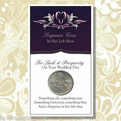 And a Sixpence in her Left Shoe Wedding Good Luck Tradition