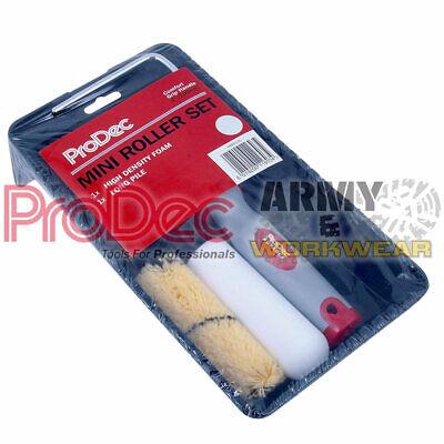 Prodec Mini Rodillo Juego 10.2cm Pintura Bandeja Marco & 2X Rellenos (Espuma...