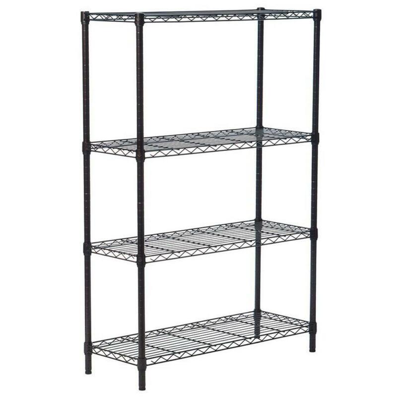 Heavy Duty 4-Tier Chrome Metal Kitchen Storage Unit Shelf Wire Shelving Rack