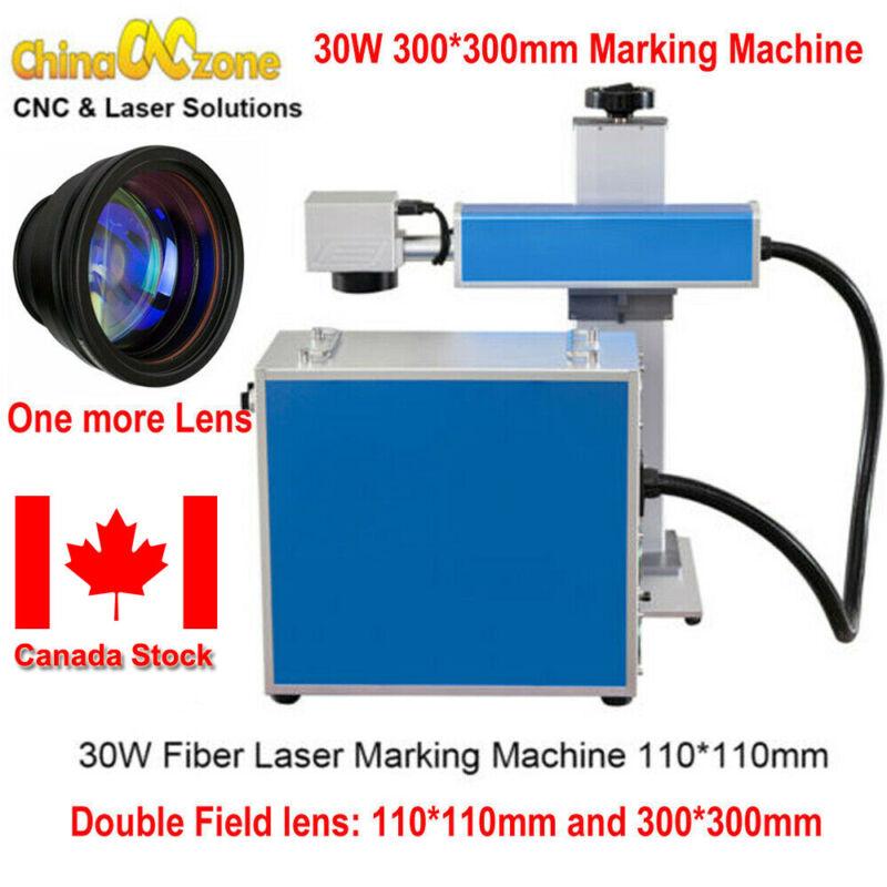 Protable 30W 300*300/110*110 Fiber Laser Marking Engrave Machine For Metal Steel