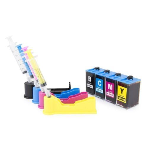 DIY REFILL Ink system for HP 564 564XL Black Cyan Magenta Yellow