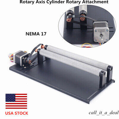 Rotary Axis Cylinder Rotary Attachment For Co2 Laser Engraver Machine Diy Nema17