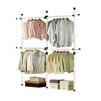 GARMENT RACK 3 POLES 2 BARS