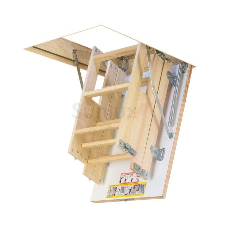 58cm x 92cm 4 section wooden loft ladder hatch attic. Black Bedroom Furniture Sets. Home Design Ideas