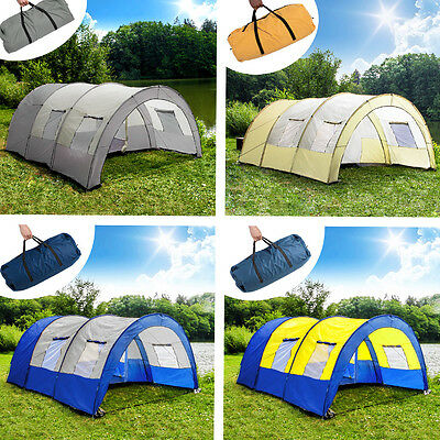 Tunnelzelt Campingzelt Familienzelt Gruppenzelt Camping Zelt 4-6 Personen