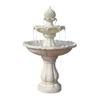 Solar Power Three-Tier Water Fountain Ivory