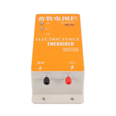 110v Solid State Electric Fence Charger Powered By Batteries And Solar Panels Us