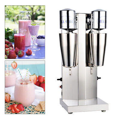Upgradestainless Steel Milk Shake Machine Double Head Drink Mixer 110v 18000rmp