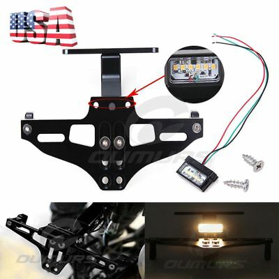 Motorcycle Black CNC License Plate Holder Bracket Fender Eliminator For Yamaha