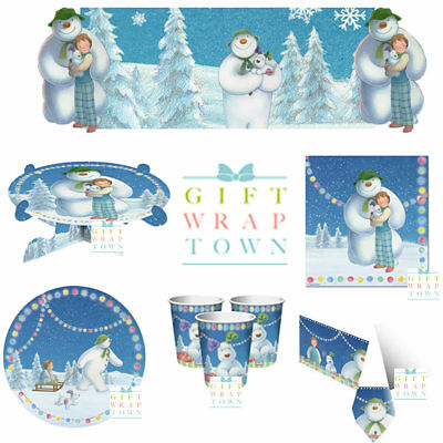 SNOWMAN AND SNOWDOG PARTY CHRISTMAS PLATES, TABLECLOTH, CUPS NAPKINS FREE POST!!](Christmas Party Plates And Napkins)