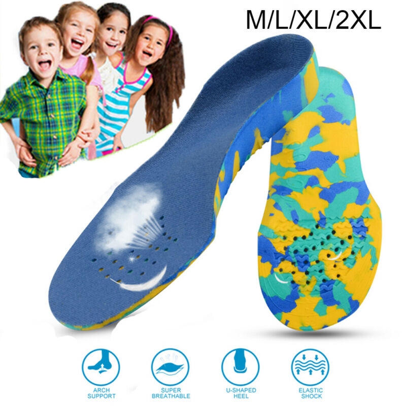 Kids Children Shoe Insoles Flat Feet Arch Support Orthotic I