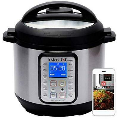 Instant Electric Pressure Cookers Pot Smart WiFi 6 Quart Cooker, Silver