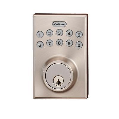Kwikset Keyless Entry Electronic Deadbolt Satin Nickel 264CNT 15SCALSCS - NEW !!