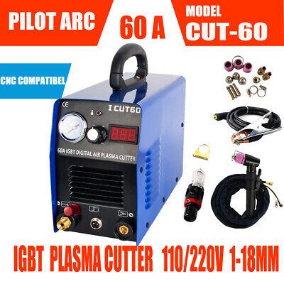 Cut60 Pilot Arc Igbt Air Plasma Cutting Cnc Machine 60a 110v220v 1-18mm
