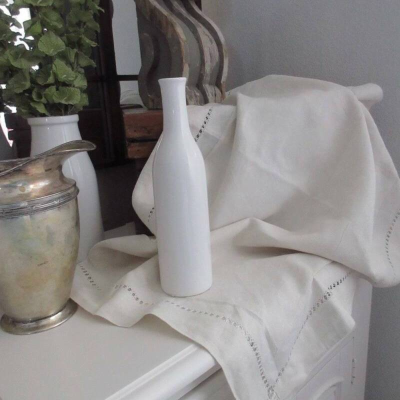 Wonderful Pure Linen 19th c Antique EURO Pillow SHAM Oatmeal Floppy French