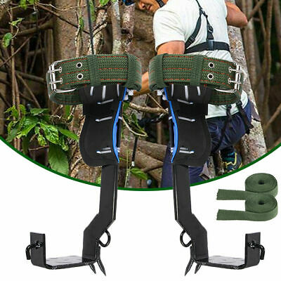 2 Gears Tree Pole Climbing Spike Safety Adjustable Lanyard Rope Rescue Belt Fast