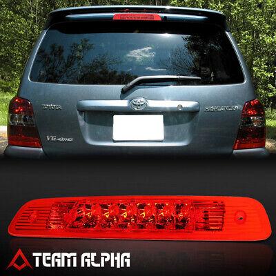 Fits 2001-2003 Toyota Highlander [Chrome/Red]LED Third 3rd Brake Light Tail Lamp