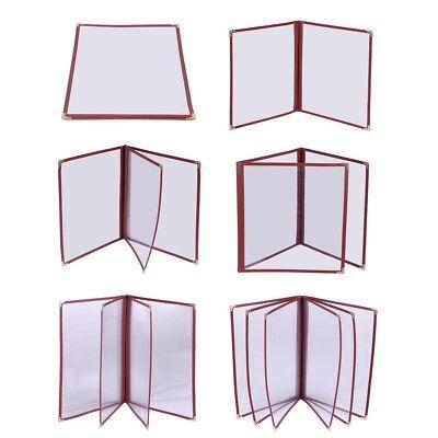 30pcs Restaurant Menu Cover 8.5x14 Triple Fold 6 View Double Stitch Deli Cafe